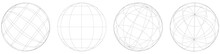 Sphere, Orb, Ball With Wireframe, Grid, Mesh Surface