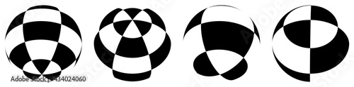 Fotografia Sphere, orb, ball with squars, mosaic, tiles, checkered and chequered surface