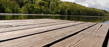 Wooden Pier On The Water