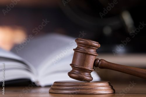 Stampa su Tela Law wooden gavel barrister, justice concept, legal system concept