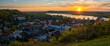 Leinwandbild Motiv Kazimierz Dolny on the Vistula River. Beautiful town in Poland during sunset. Panorama.