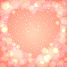 Festive Background For Valentine's Day. For The Design Of Postcards And Banners.