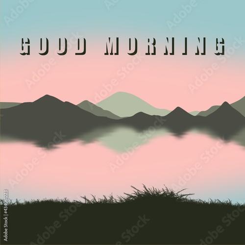 Valokuvatapetti Good morning