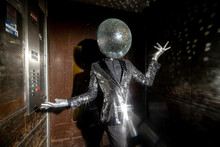 Mr Disco Ball Dancing In A Lift