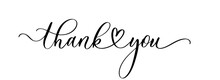 Thank You. Wavy Elegant Calligraphy Spelling For Decoration On Holidays