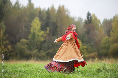Canvas Traditional Slavic rituals in the rustic style