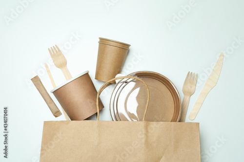 Fotografie, Obraz Delivery containers for takeaway food on white background