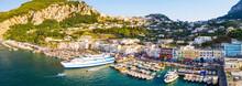 The Marina Grande And North Coast Of Capri Island, Italy