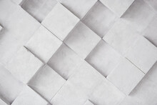 Monochrome Abstract Geometric Background, Cyberspace Concept. Vertical Photo. High Quality Photo
