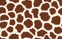 Abstract Modern Giraffe Seamless Pattern. Animals Trendy Background. Colorful Decorative Vector Stock Illustration For Print, Card, Postcard, Fabric, Textile. Modern Ornament Of Stylized Skin