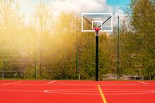 Basketball Court In School Stadium