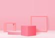 3D Display Product Abstract Minimal Scene With Geometric Podium Platform