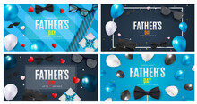 Fathers Day Banner Sale Set