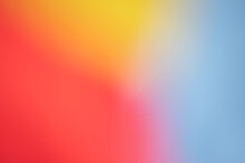 Abstract Background, Smooth Creamy Image Of Red, Yellow And Blue Tones
