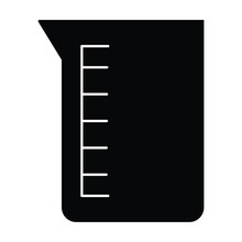 Beaker Vector Icon Which Can Easily Modify Or Edit