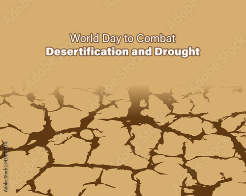 world day to combat desertification and drought, vector illustration Fototapeta