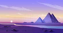 Egypt Pyramids Nile River Dusk