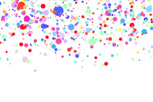 Light Multicolor Background, Colorful Vector Texture With Circles. Splash Effect Banner. Glitter Silver Dot Abstract Illustration With Blurred Drops Of Rain. Pattern For Web Page, Banner,poster, Card