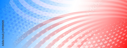 Cuadros en Lienzo USA independence day abstract background with elements of american flag in red a
