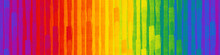 Grunge Seamless Texture With Brush Stroke Pattern, Rainbow Color, Banner, 3d Illustration