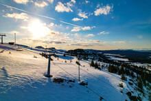 Ski Resort In The Mountains Winter Kvitfjell Norway Worldcup Gudbrandsdal Norway Faavang Fåvang