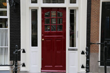 Characteristic Door Of An Old House In Amsterdam