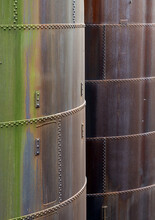 Background Of Steel Tanks With Corrosion