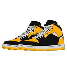 Sneakers 03 Yelow N Black