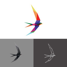 Swallow Low Poly