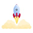 Spacecraft cosmos launch icon. Cartoon of Spacecraft cosmos launch vector icon for web design isolated on white background