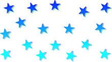 3D-like Blue Star Pattern.