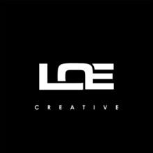 LOE Letter Initial Logo Design Template Vector Illustration