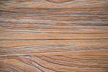 Top View Of Textured Surface Of Natural Brown Wooden Table As Abstract Background