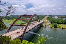 Pennybacker Bridge Over Colorado River Near Austin Texas