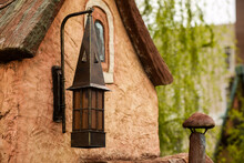 Old Style Street Lamp, Antique Wrought Iron Lamp.