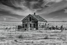 An Abandoned Homestead In Ingomar Montana.
