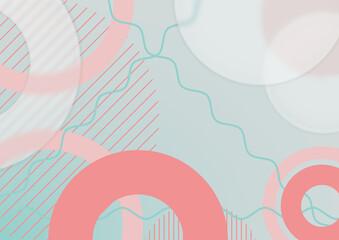 Abstrakcyjne jasne tło - geometryczne kształty z efektem szkła. Szablon z miejscem na Twój tekst, produkt, tapeta, ilustracja dla social media story, internetowe projekty, aplikacje mobilne.