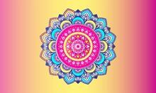 Colorful Ethnic Round Ornamental Mandala. Vector Illustration