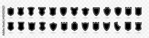 Fotografiet Shield vector collection on transparent background