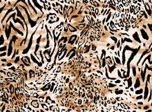 Seamless Hand Drawing Leopard Pattern, Animal Print