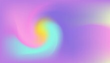 Abstract Holographic Background Design. Purple, Yellow, Pink, And Red Color. Vector Design. Can Be Used For Web Template