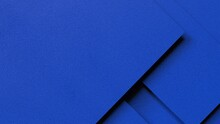 Overlapping Blue Paper Planes Layer. Abstract Background. 3D High Quality Rendering. 3D Illustration. 3D CG.