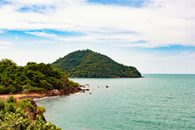 Scenic View Of Kung Vimarn Bay From Noen Nangphaya Viewpoint, Chanthaburi, Eastern Of Thailand