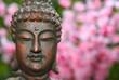 Buddha Statue in Outdoor Garden With Blurred Background