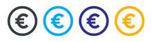 Money Euro Icon. Vector Illustration