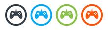 Gamepad, Joypad, Icon Set. Video Game Controller Vector Illustration.