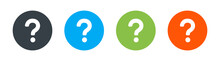 Question Mark Icon In Black On A White Background. Vector Illustration. Information Concept