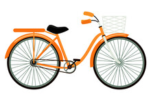 Beautiful Cute Bicycle Lady's Bicycle Isolated