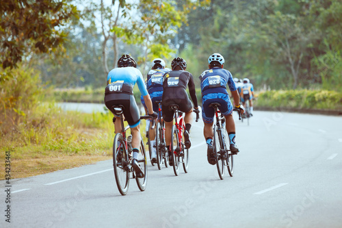 Fotografie, Obraz Group of professional cyclists during the cycling race