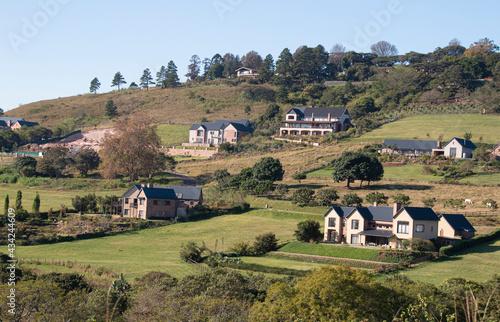 Luxury Housing Constructed on Sloping Hillside Fototapet